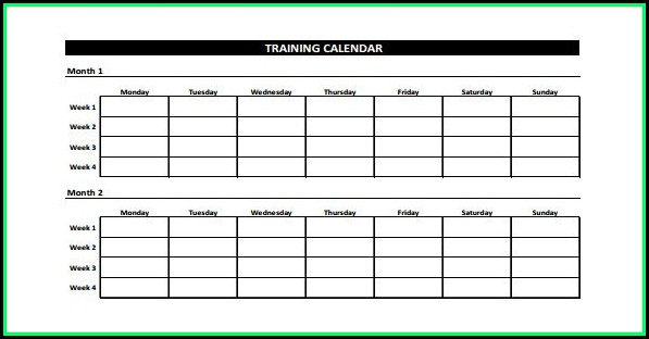 Fitness Log Template