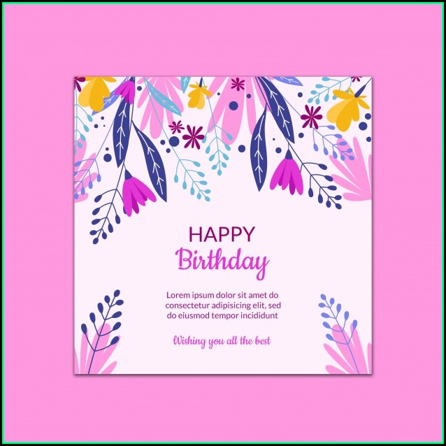 Free Birthday Card Template Psd