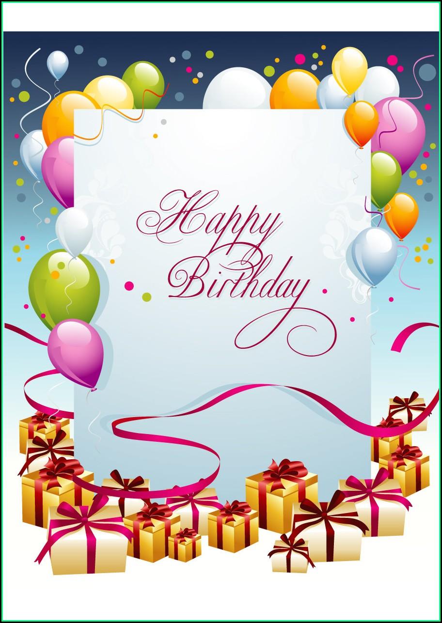 Free Birthday Card Template