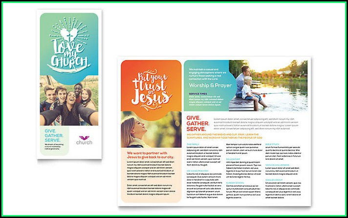 Free Church Brochure Templates For Microsoft Word