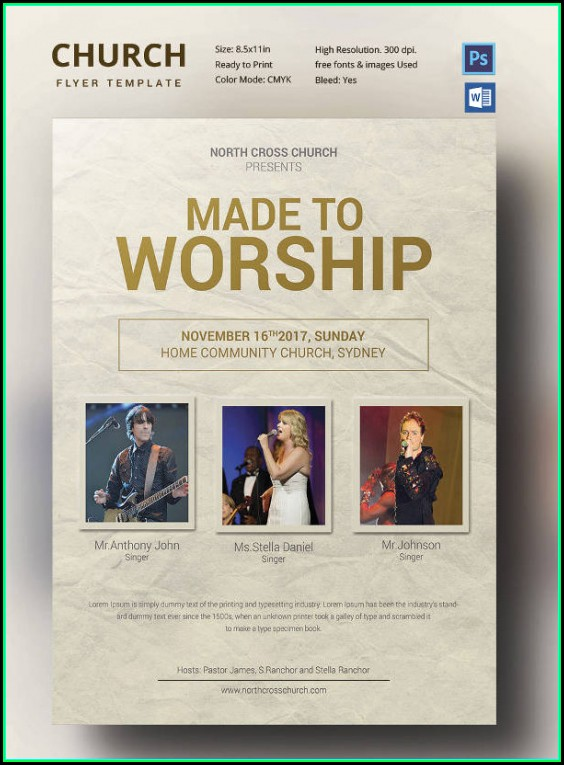 Free Church Flyer Templates Word