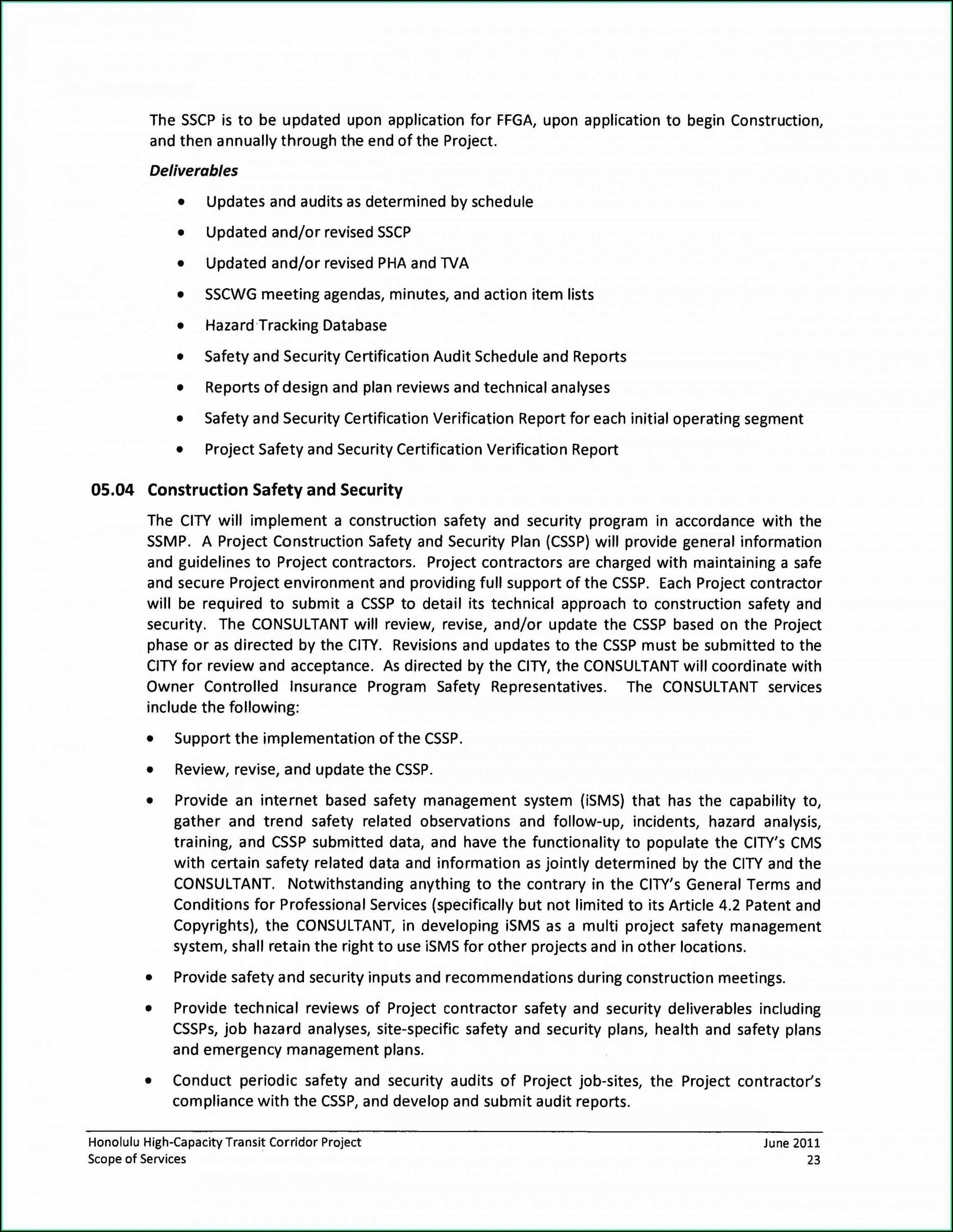 Free Construction Site Safety Plan Template
