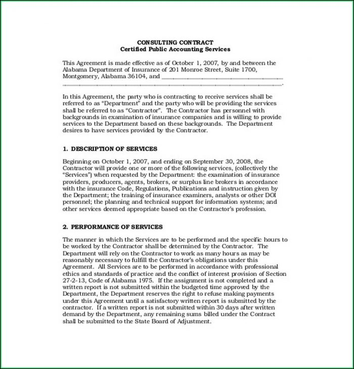 Free Consulting Agreement Template