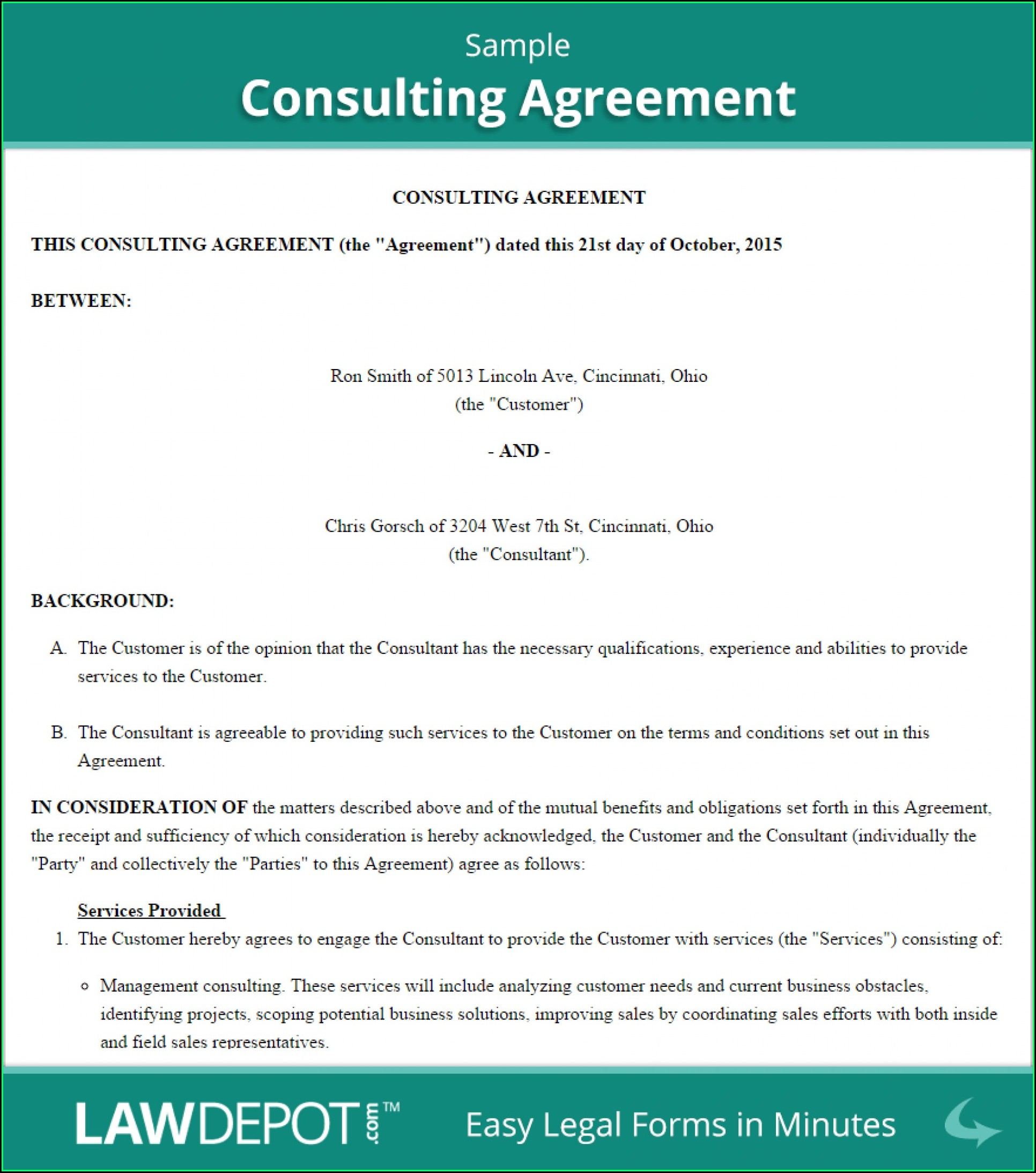 Free Consulting Agreement Template South Africa