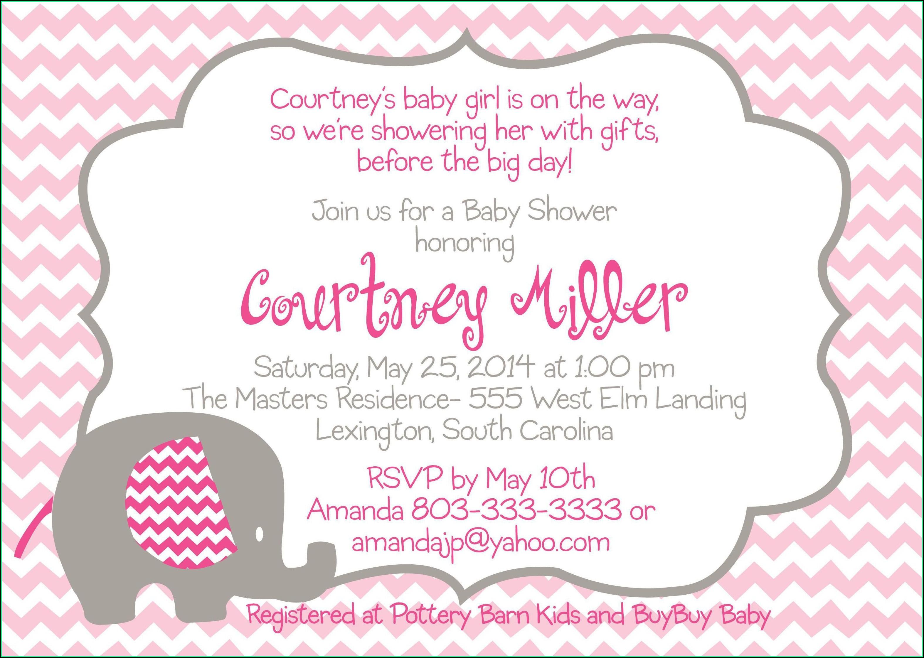 Free Digital Baby Shower Invitation Templates