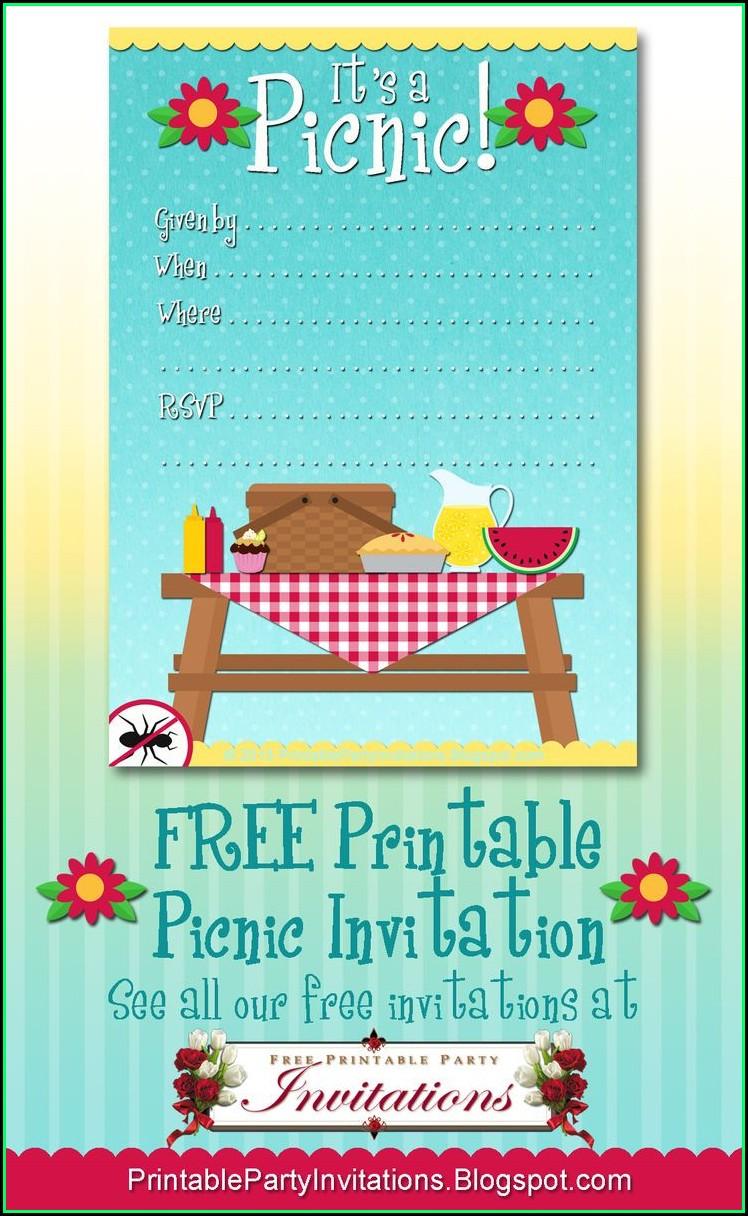 Free Downloadable Picnic Invitation Template