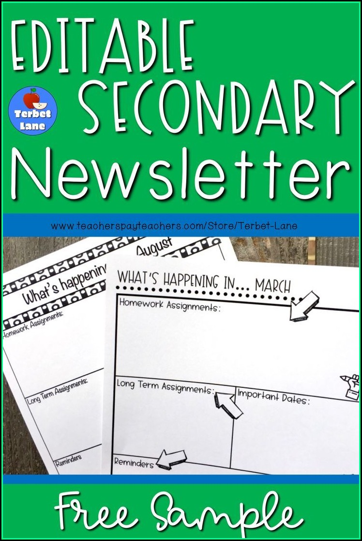 Free Elementary Class Newsletter Template