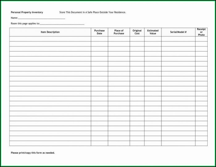 Free Liquor Inventory Spreadsheet Template Excel