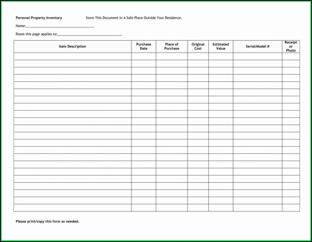 Free Liquor Inventory Spreadsheet Template Excel
