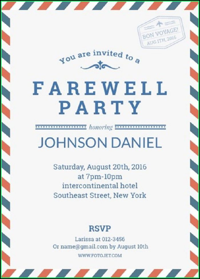 Free Military Going Away Party Invitation Templates