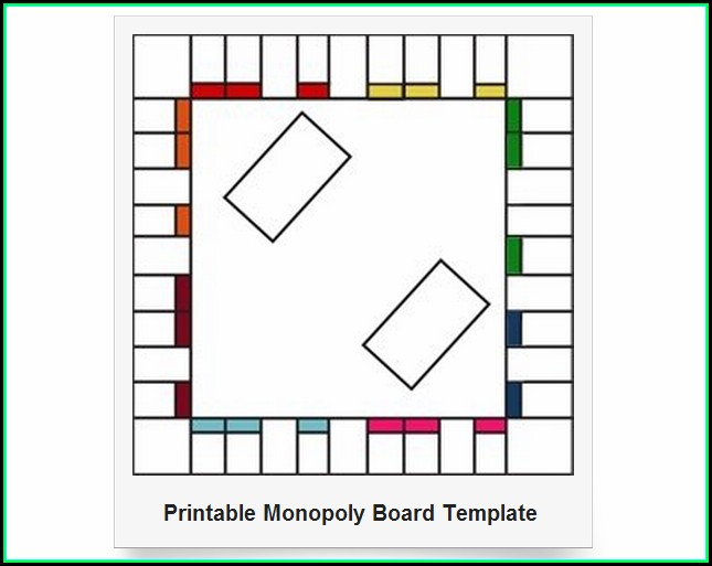 Free Monopoly Board Template