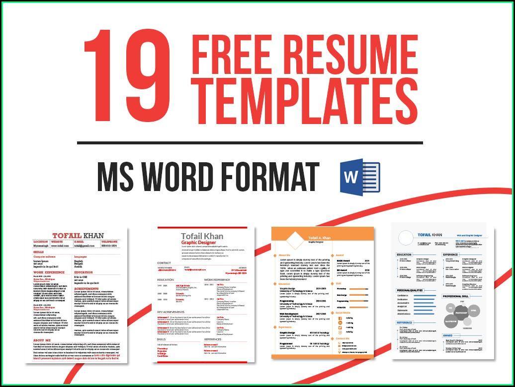 Free Ms Word Resume Templates 2017