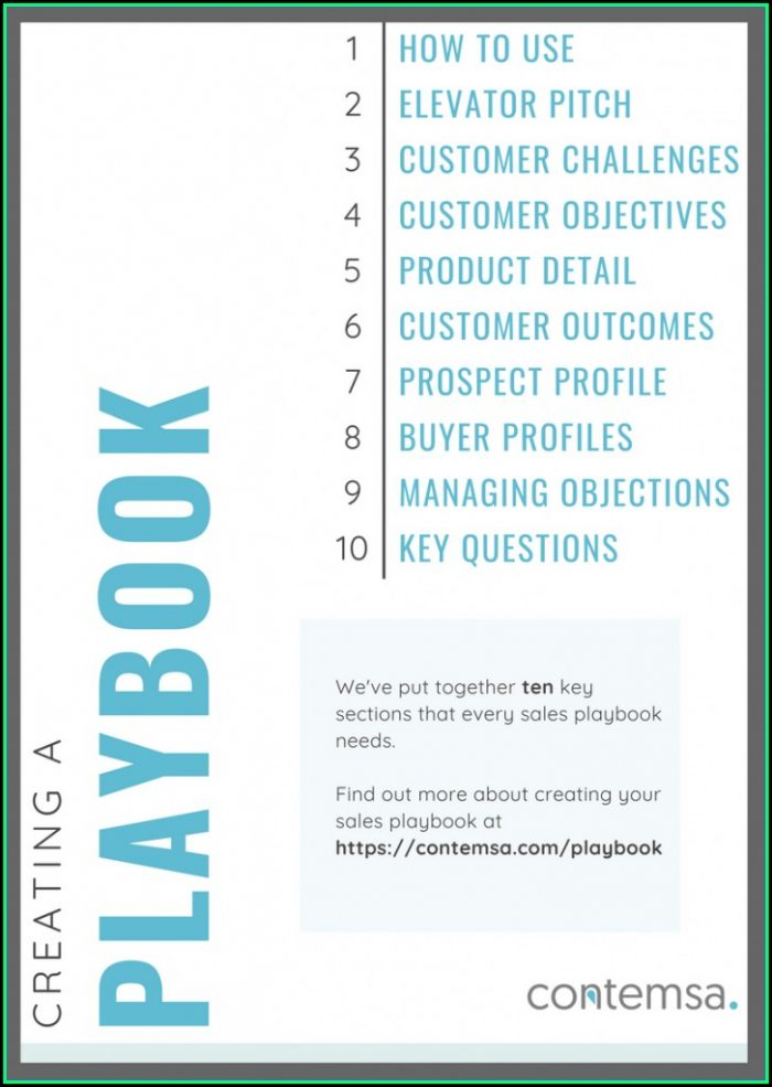 Free Sales Playbook Template