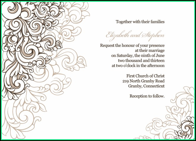 Free Wedding Invitation Border Template Download