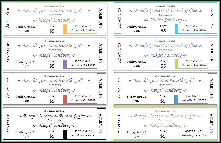 Fundraiser Dinner Tickets Template