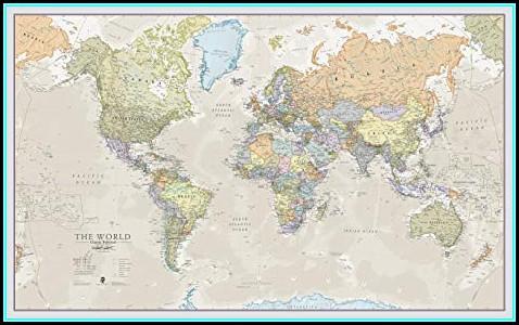 Giant World Map Laminated