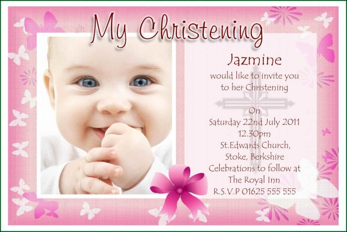 Girl Baptism Invitations Free Templates