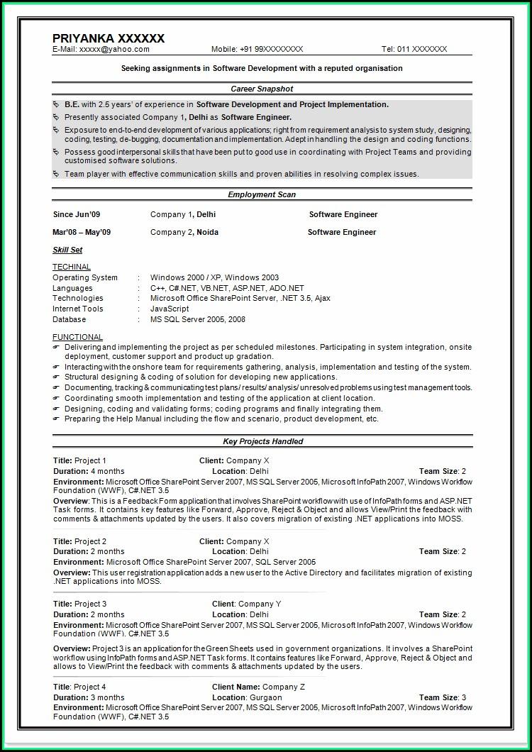 Good Resume For Cna Job