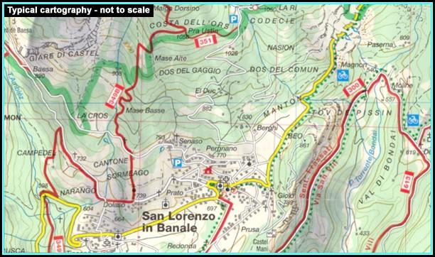 Hiking Maps Dolomites Italy