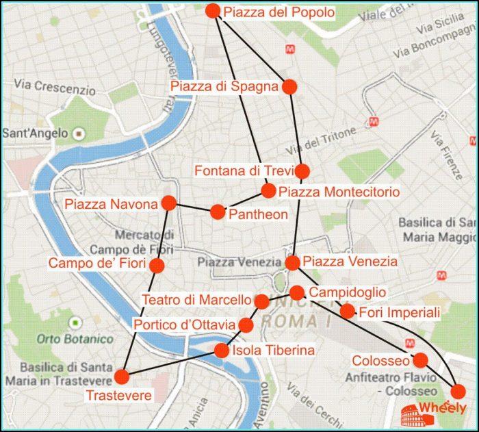 Jewish Ghetto Rome Walking Tour Map