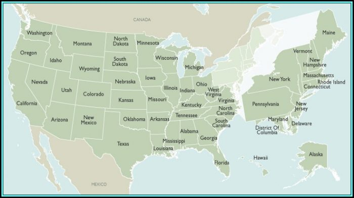 Laminated State Wall Maps