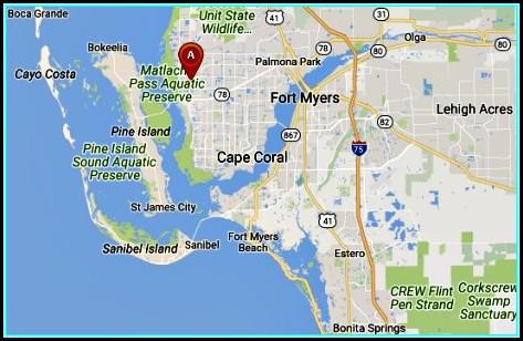Map Cape Coral Fl