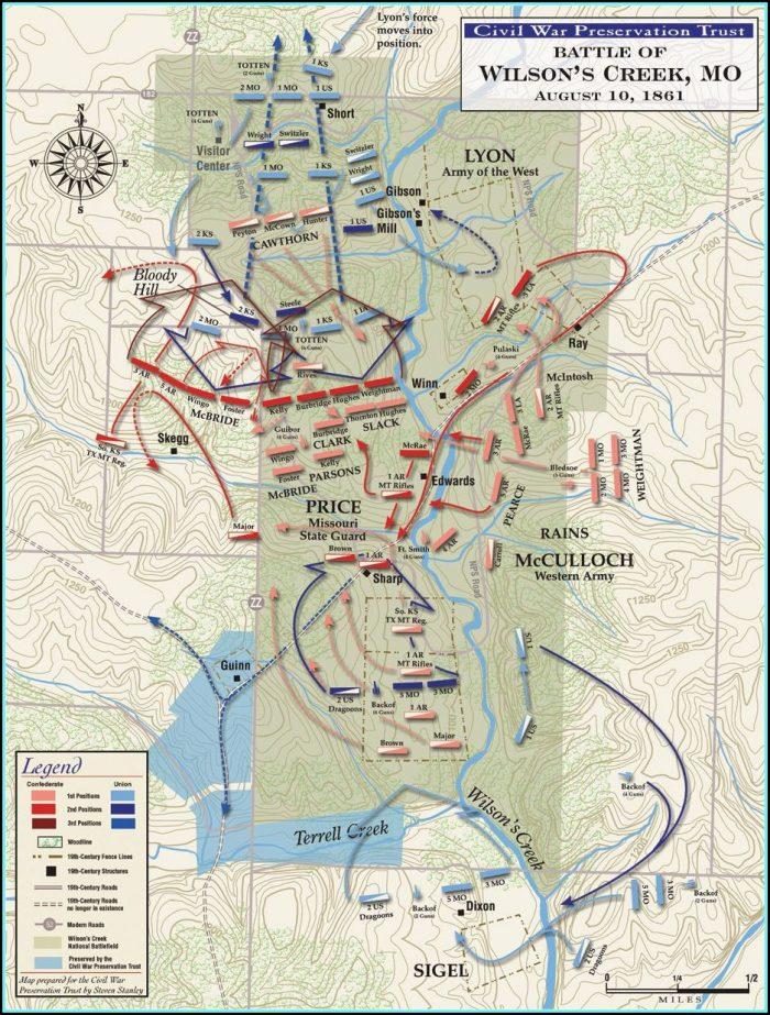 Map Of Civil War Battles In Georgia