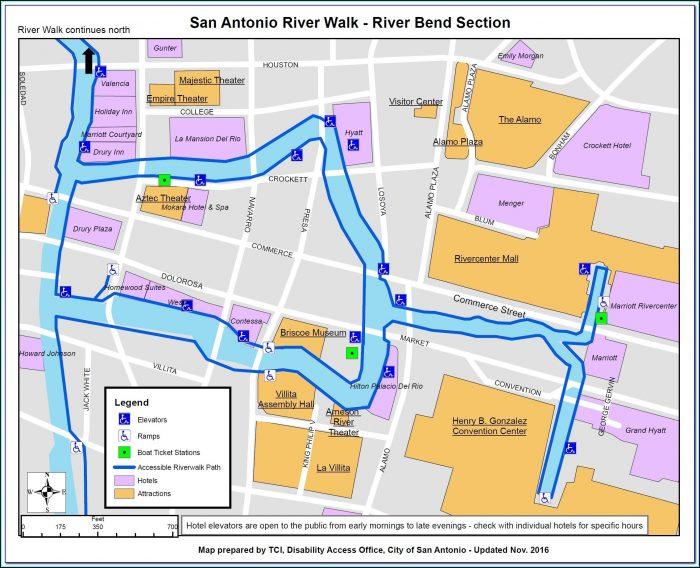 Map Of Downtown San Antonio Riverwalk Hotels