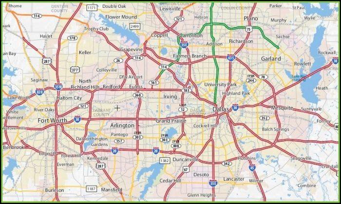 Map Of The Dallas Metroplex Area