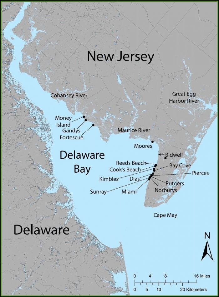 Map Of The Delaware Bay