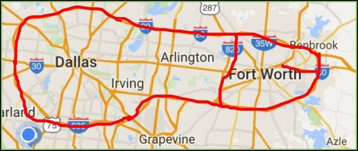 Map Of The Dfw Metroplex