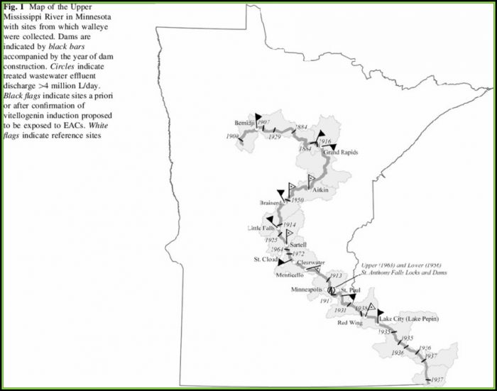 Map Of The Mississippi River In Minnesota