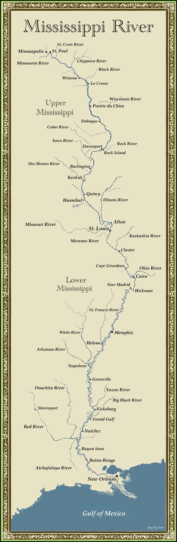Map Of The World Mississippi River