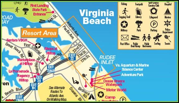 Map Of Virginia Beach Hotels Oceanfront