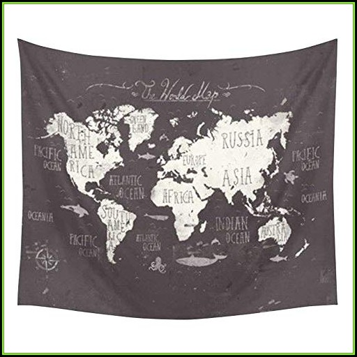 Map Tapestry Cheap
