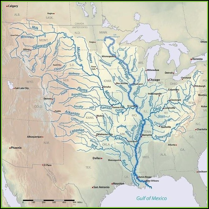 Maps Of The Mississippi River