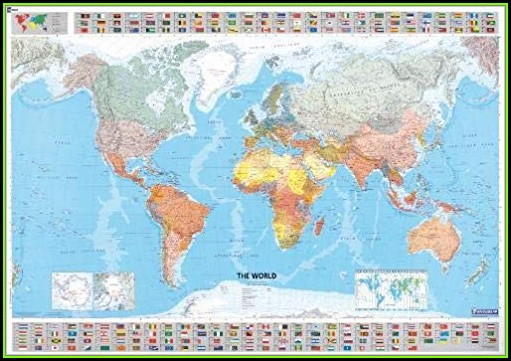 Michelin World Map Laminated
