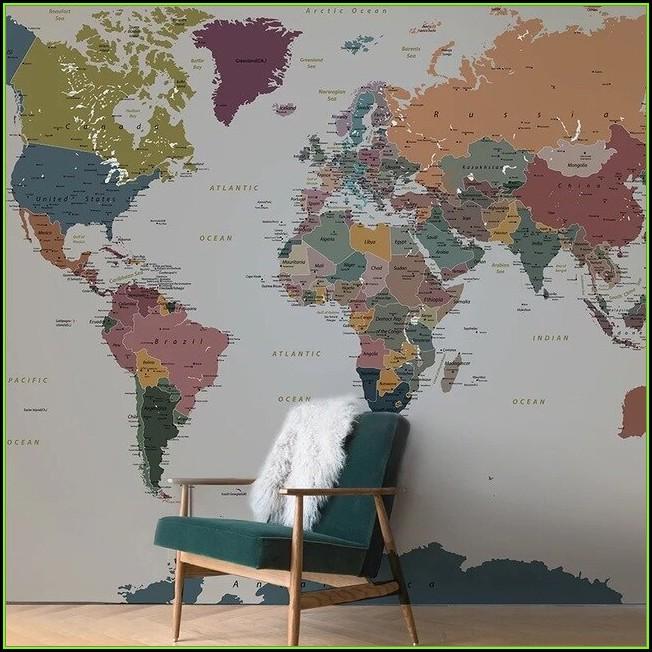 Modern Wall Mural Map