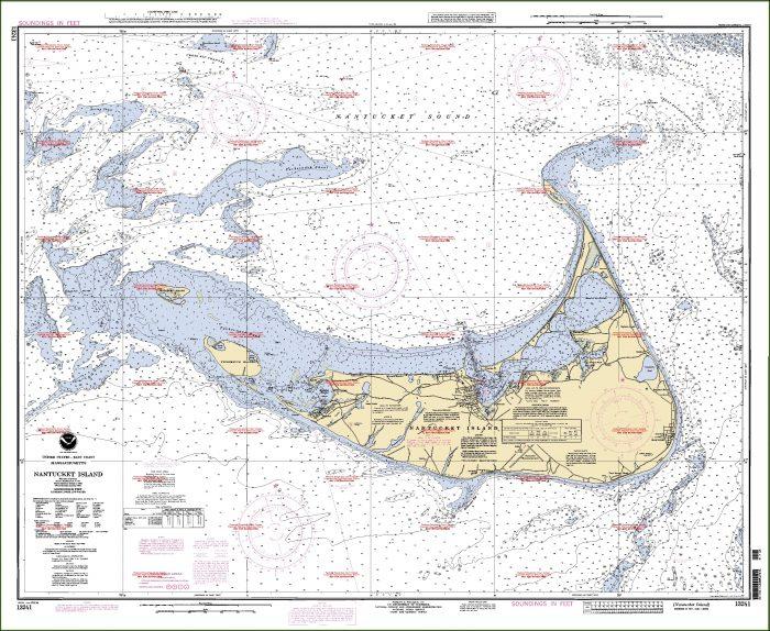 Nantucket Nautical Map