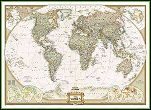 National Geographic Wall Mural Map