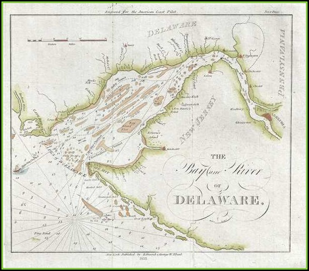 Nautical Map Of Delaware Bay