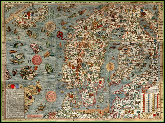 Oldest Map Of Scandinavia
