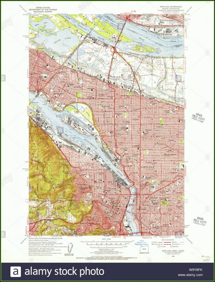 Portland Oregon Topo Map