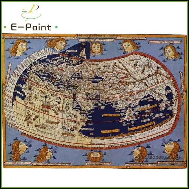 Ptolemy World Map Print