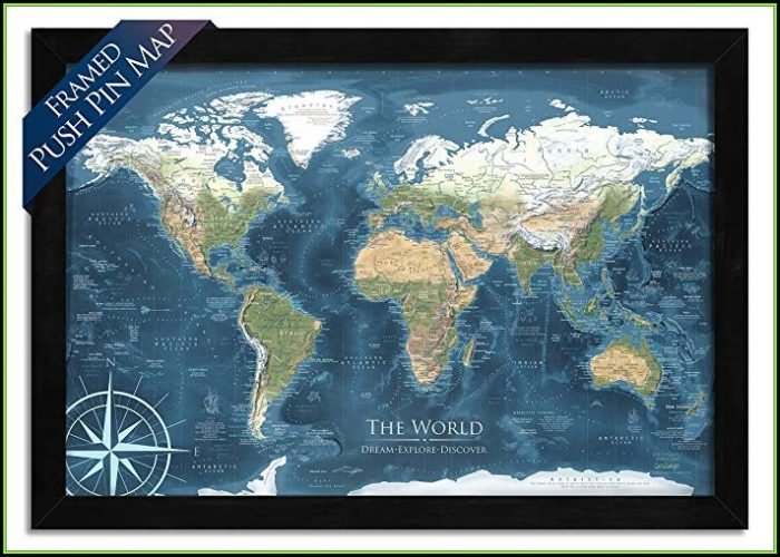 Push Pin World Map Amazon