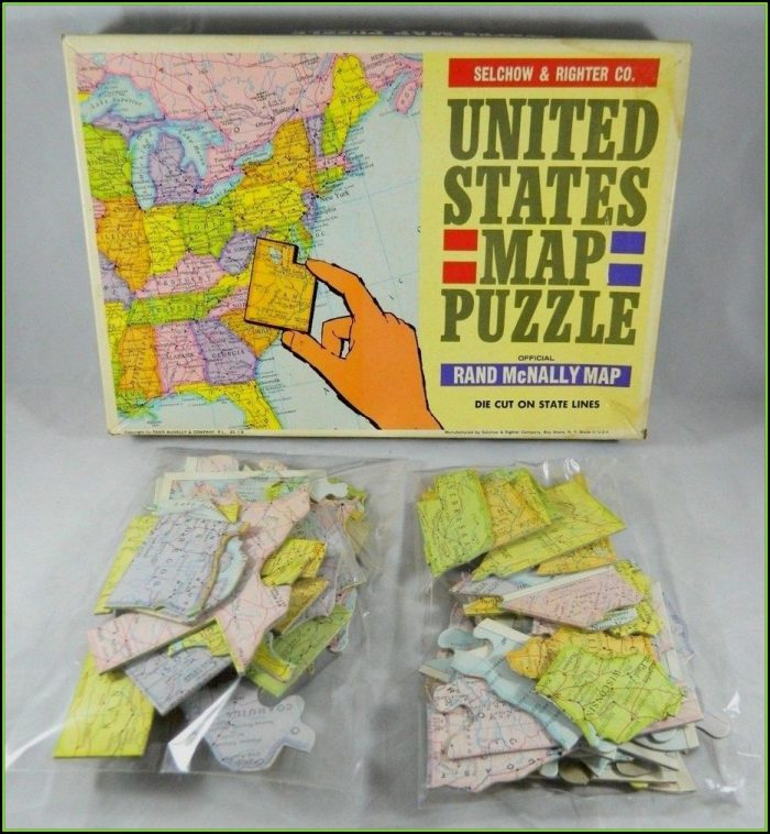 Rand Mcnally United States Map Puzzle