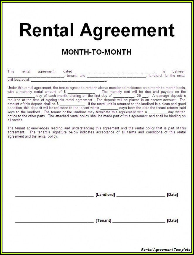 Renters Contract Form