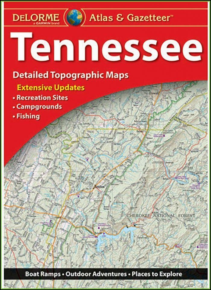 Tennessee Gazetteer Map