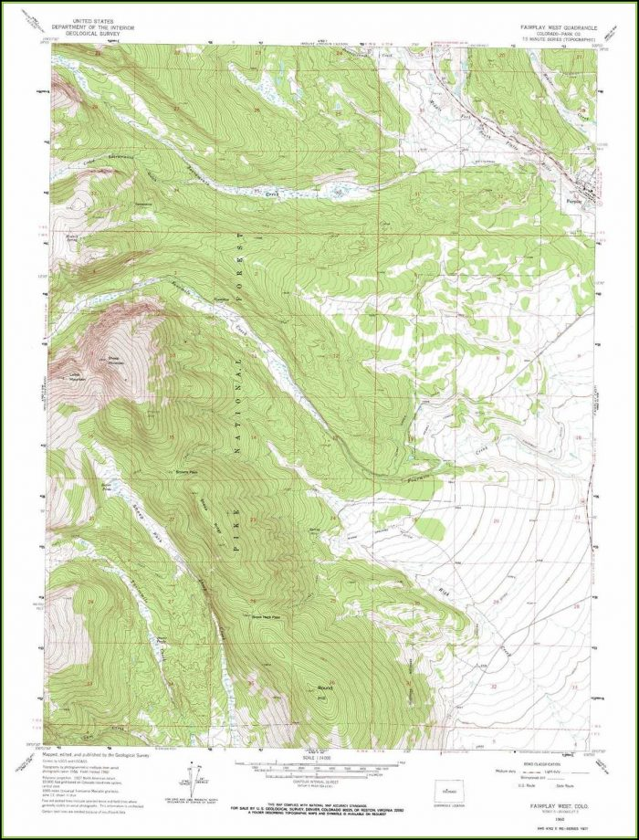 Topographic Map Co
