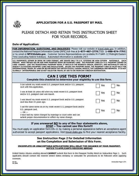 Travel.state.gov Passport Form Ds 82